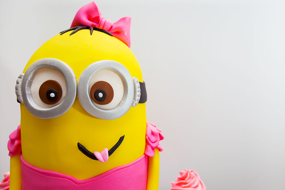 Despicable Me Fondant Minion Birthday Cake in NYC